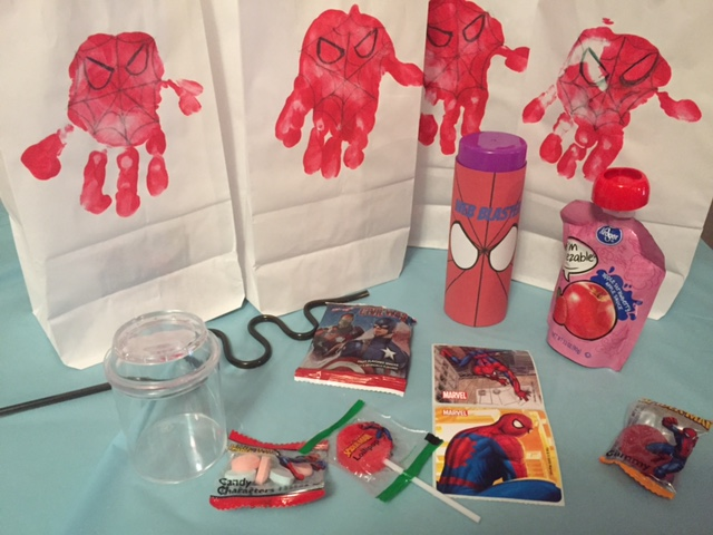 spiderman goody bag