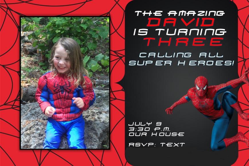 Spiderman invite for blog